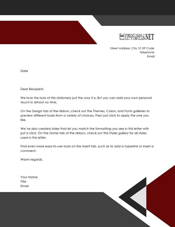 Free Professional Letterhead Template