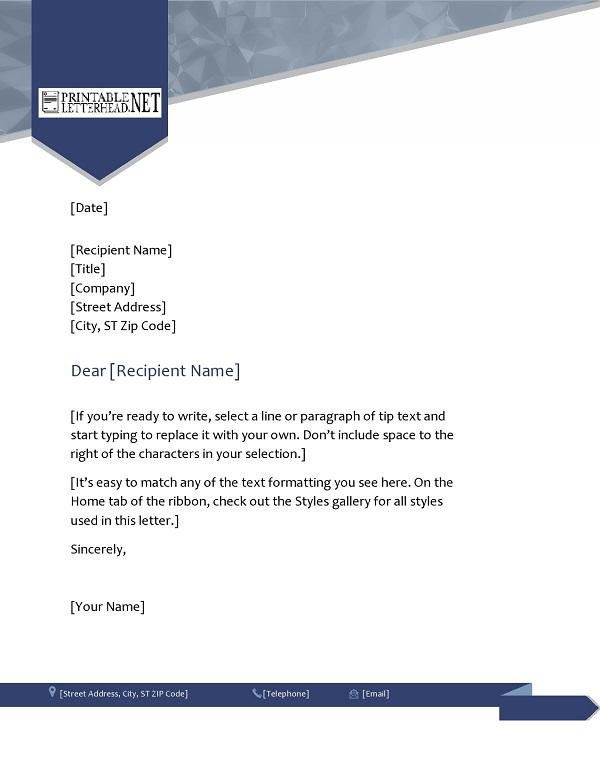 Professional Letterhead Template Example