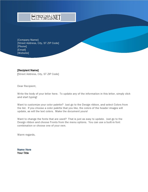 Professional Letterhead Template Sample