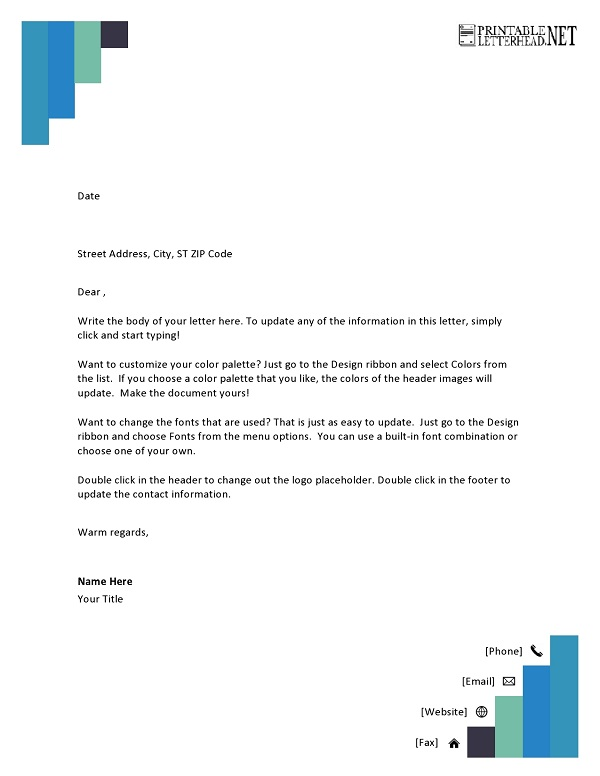 Professional Letterhead Template Download