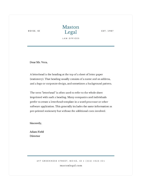 legal letterhead CC