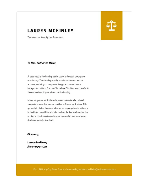 legal letterhead printable