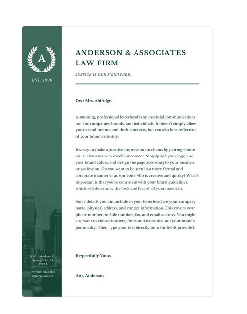 legal letterhead template