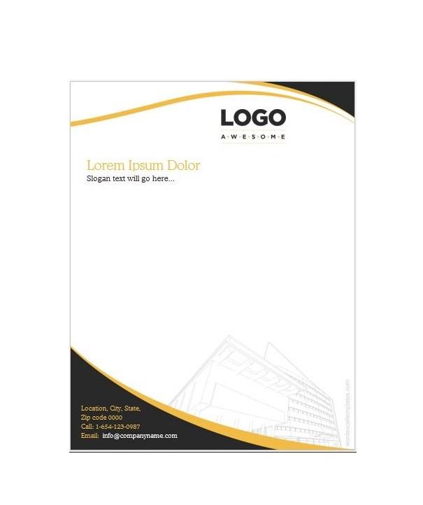 Construction Company Letterhead Free