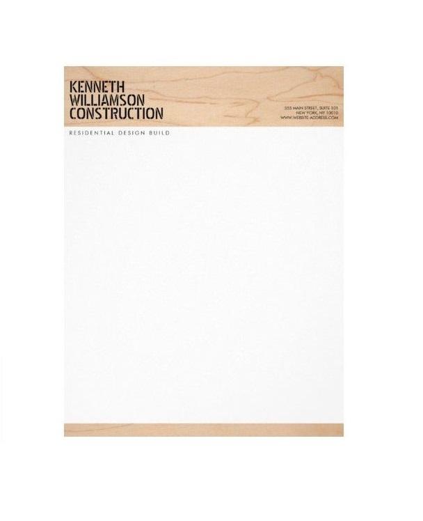 Construction Company Letterhead Format