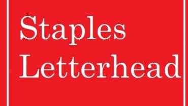 Staples Letterhead