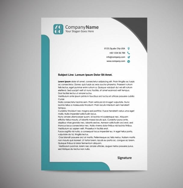 company letterhead design template
