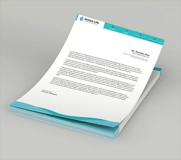Letterhead PSD Design Template