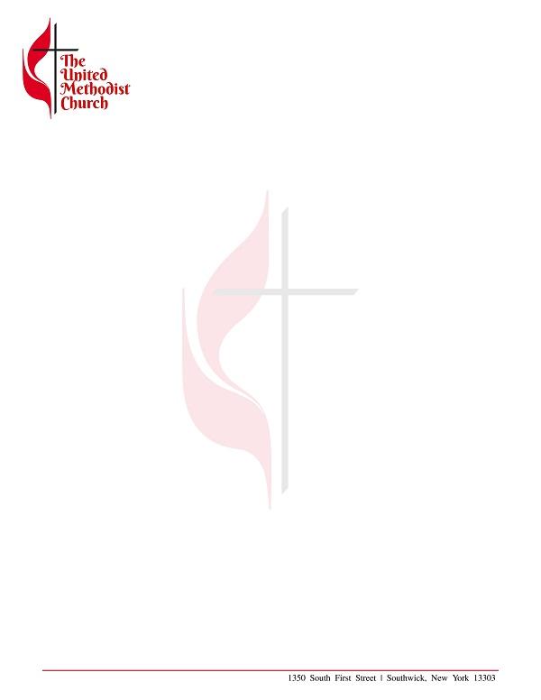 church letterhead template 06
