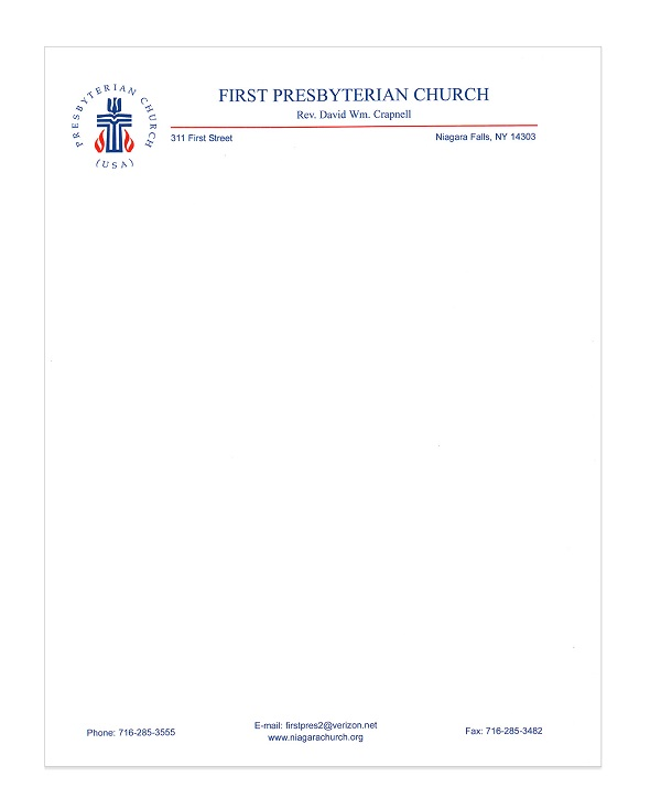 church letterhead template 09