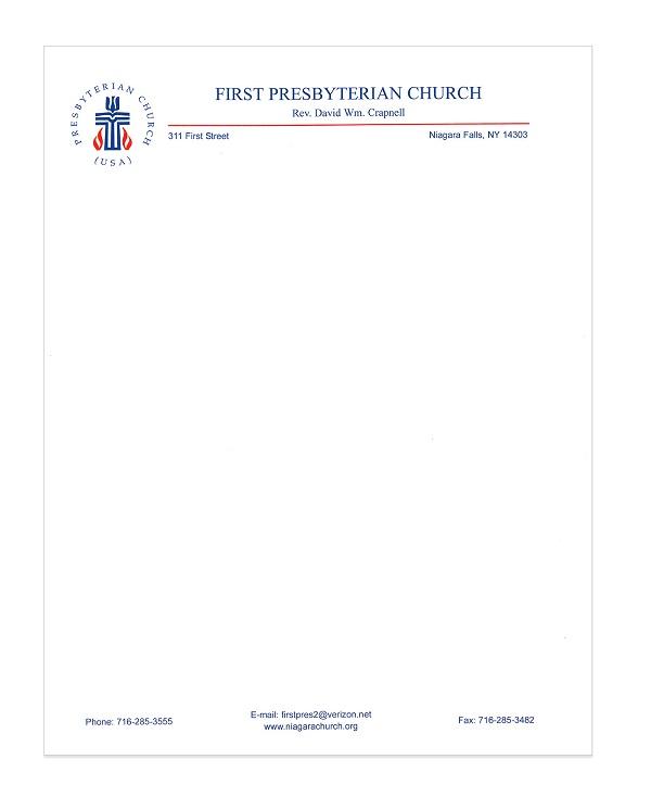 church letterhead template 09