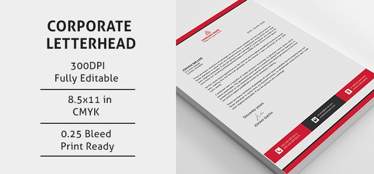 corporate psd letterhead
