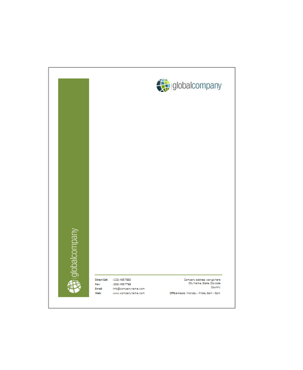 microsoft office letterhead templates BB