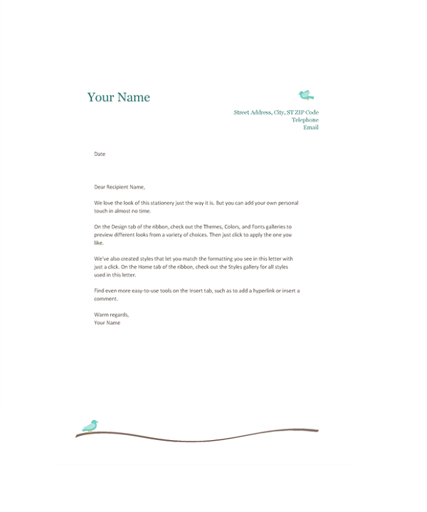 Microsoft office letterhead templates printable
