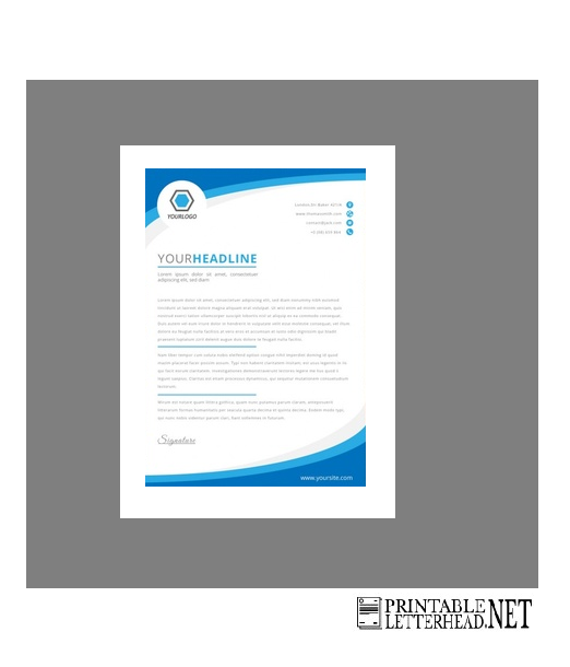 corporate blue brochure Letterhead design free download