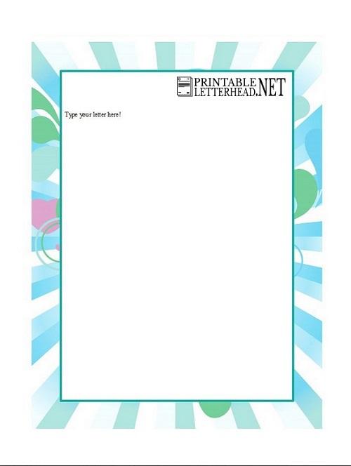Example Company letterhead template word 2007