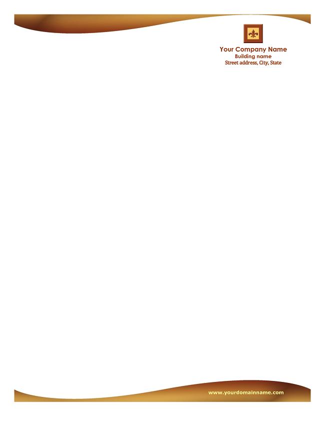 letterhead templates free business letterhead template word