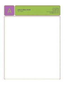 Business Letterhead Template 09