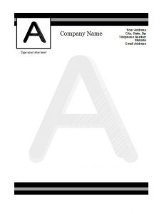 Company Letterhead Sample 07