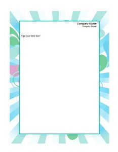 Company Letterhead Sample 17