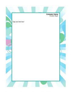 Printable Letterhead 02