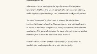 44. What is a Business Letterhead1