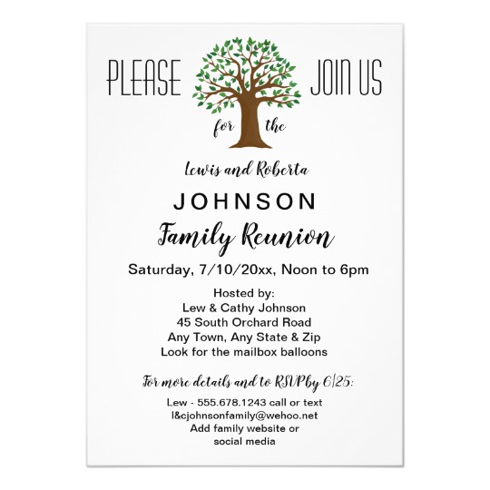 Family Reunion Letterhead