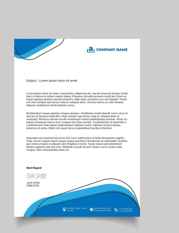 Abstract design business letterhead