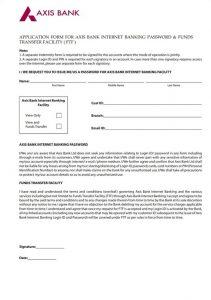 Axis Bank Letterhead