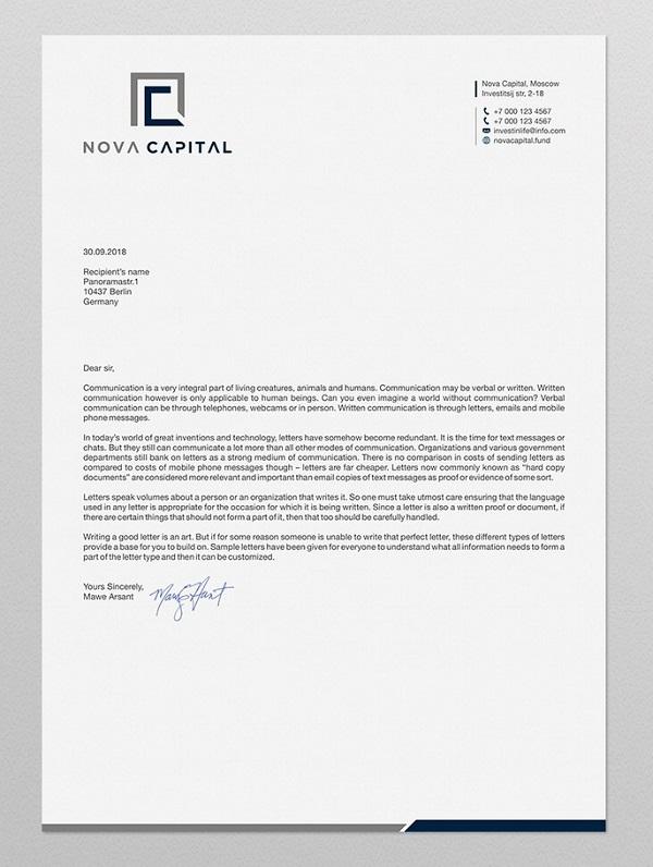 Bank Letterhead Design
