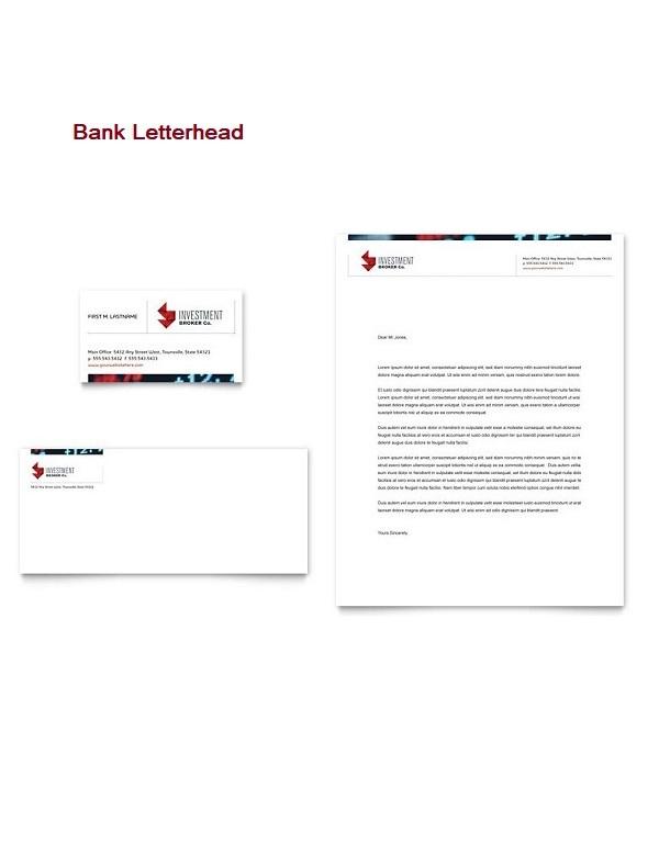 Bank Letterhead