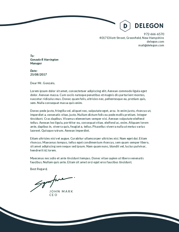 Business Letterhead Example Template