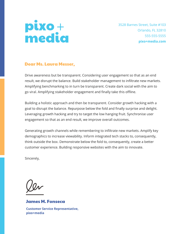 Business Letterhead Example With Logo