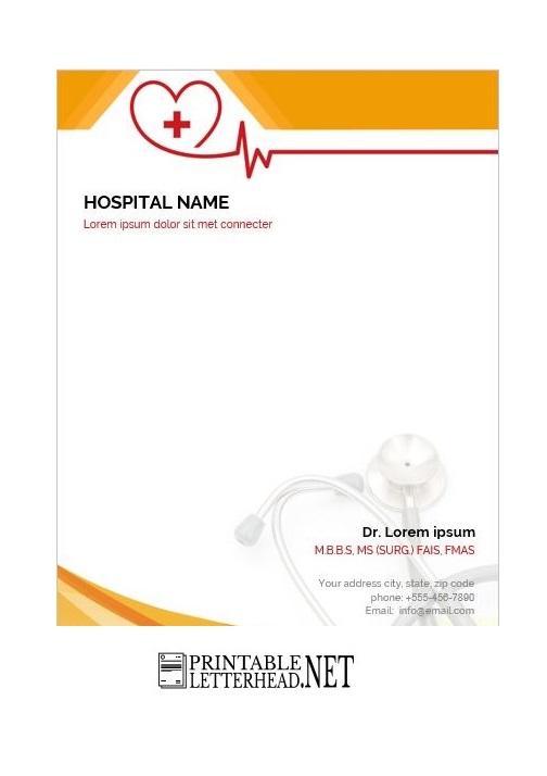 Hospital Doctor Letterhead Design
