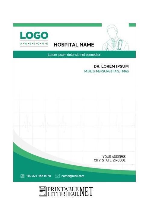 Simple Doctor Letterhead Design