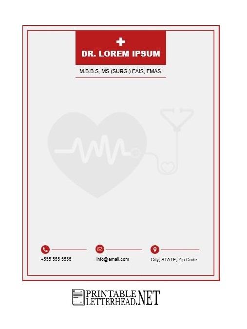 Doctor Letterhead Design 07