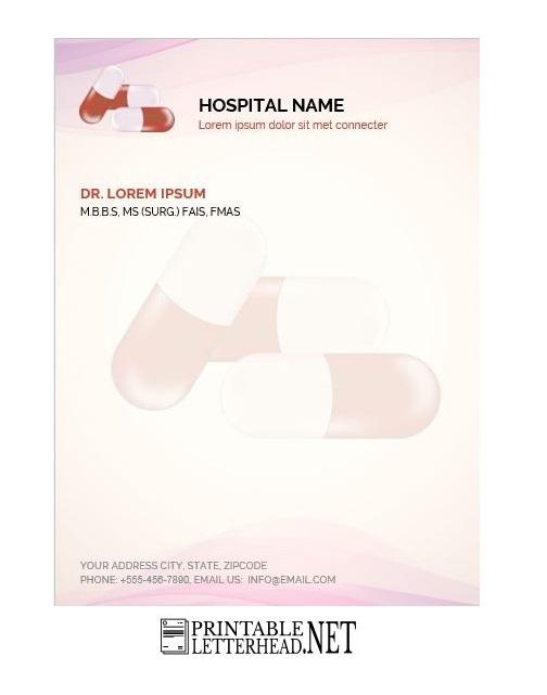 Letterhead Template Doctor Letterhead Design