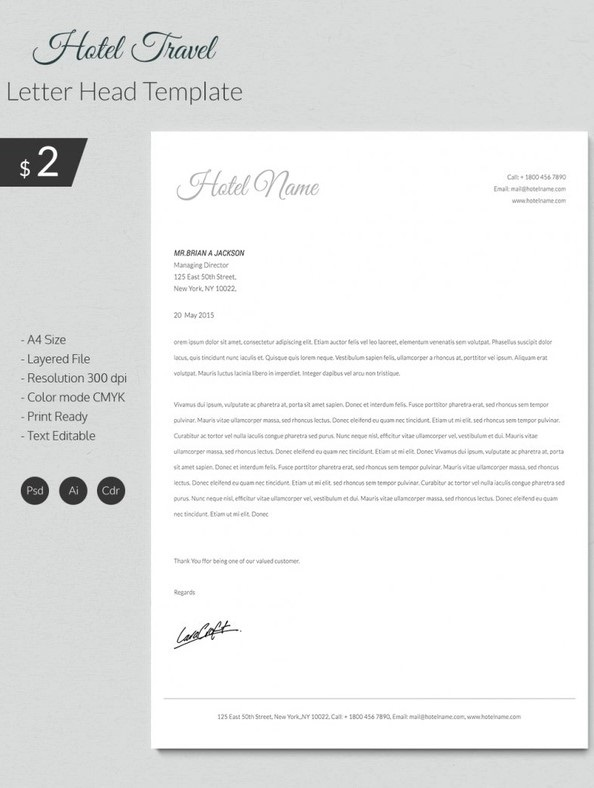 Free Business Letterhead Templates 02