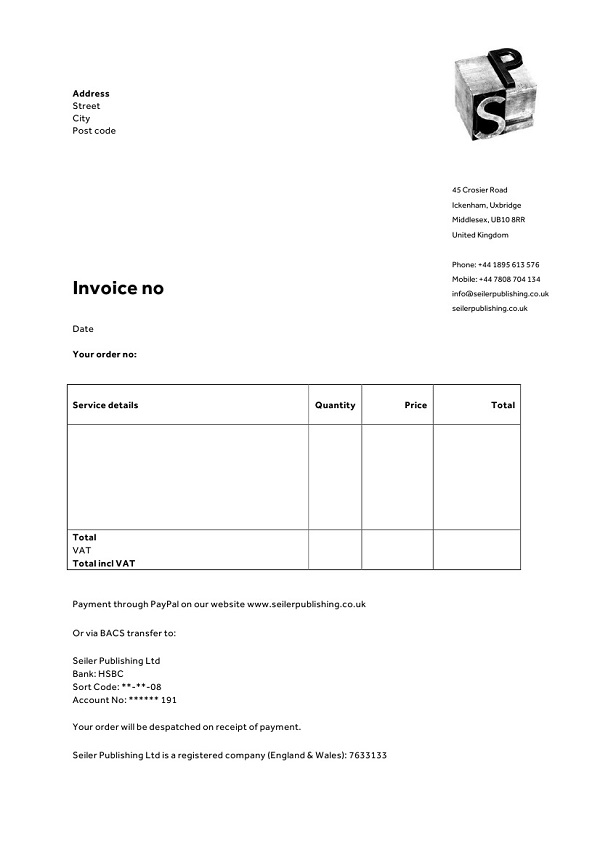 Invoice Template Stationery Psychotherapists Letterhead