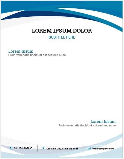 Letterhead Examples With Logo 03