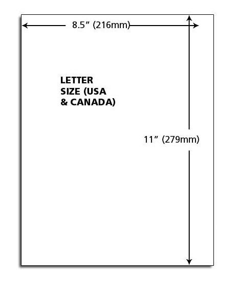 Letterhead Paper Size