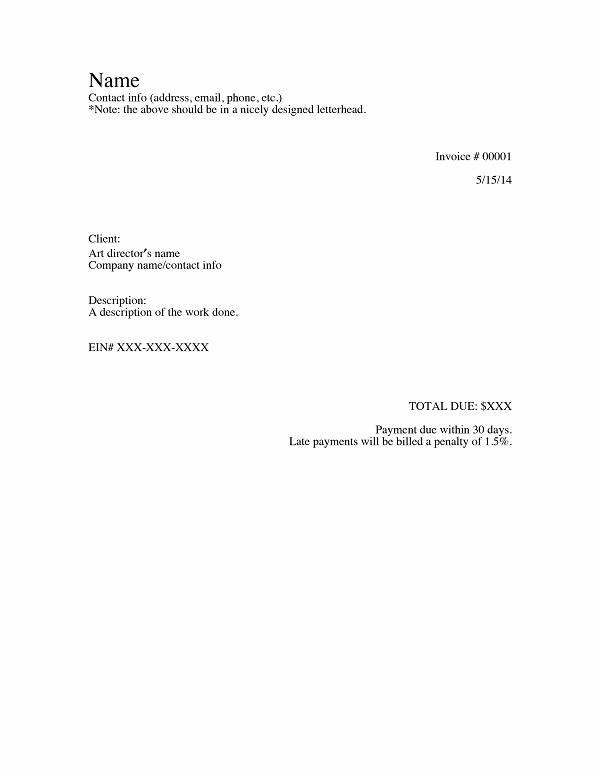 Letterhead Receipt Template 09