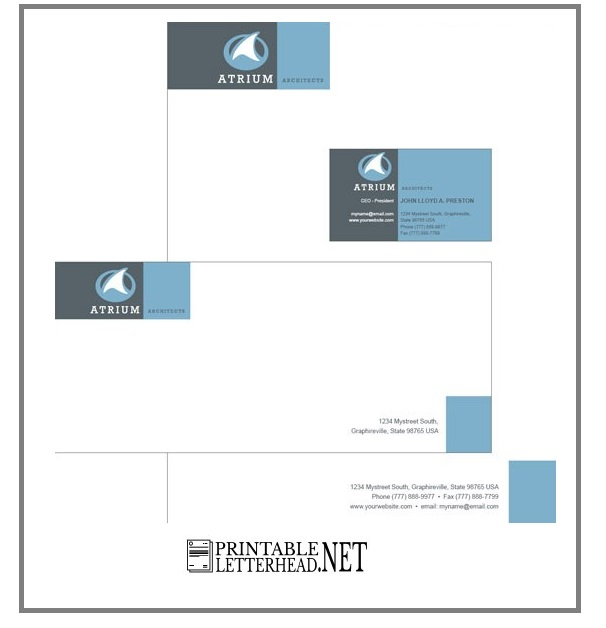 Letterhead and envelope printing 05