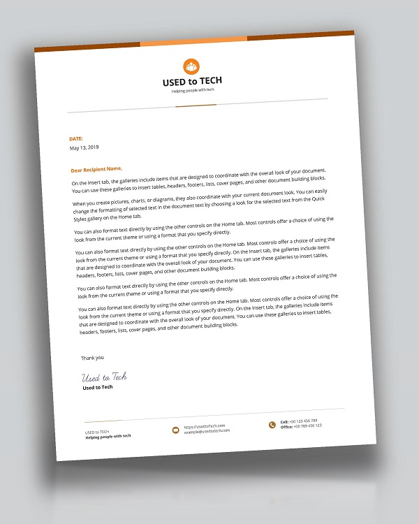 Simple Best Letterhead Design Template