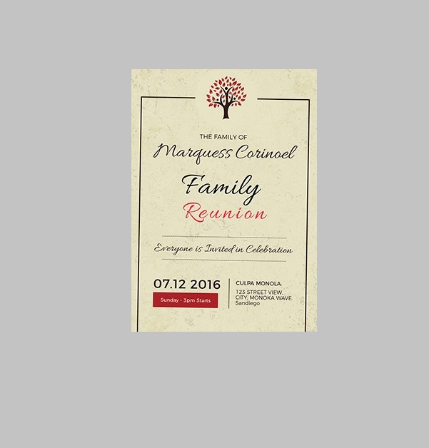 Vintage Family Reunion Invitation Template