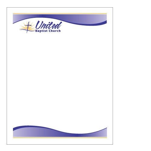 sample church letterhead printable