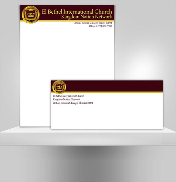 sample church letterhead template