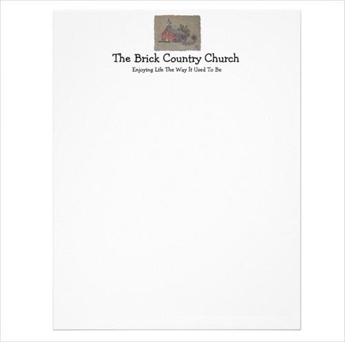 sample church letterhead