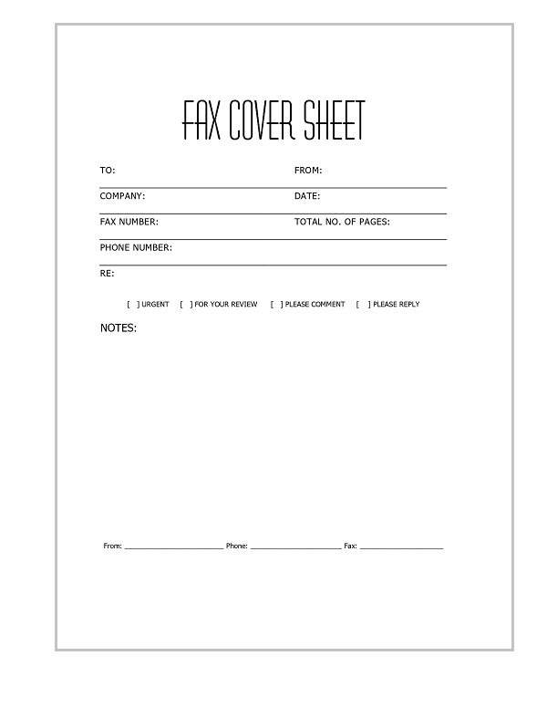 14 fax cover sheet
