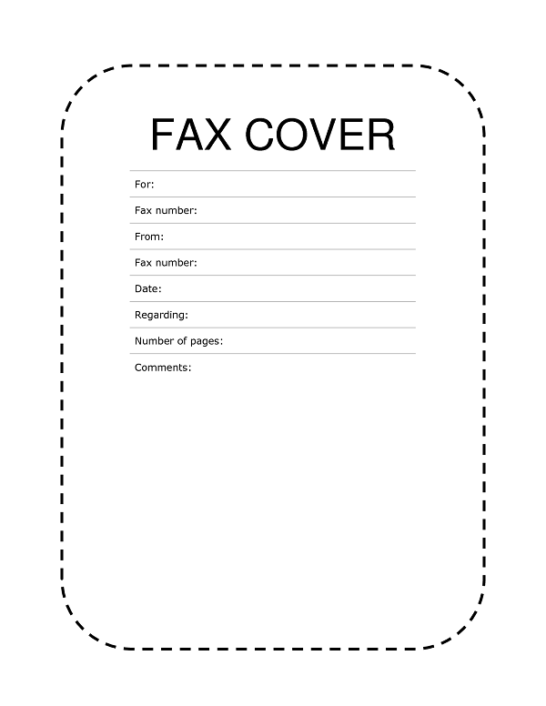 22 fax cover sheet